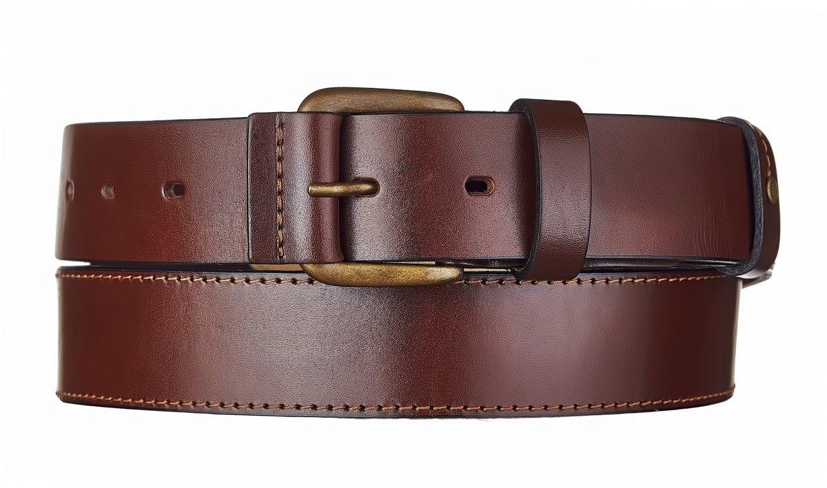 Ремень брючный кожаный ТАЙГА с подкладом 40 мм1